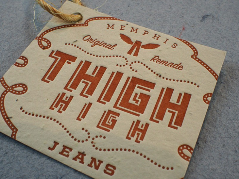 Custom letterpress tag on plantable paper from Plantable Seed Paper